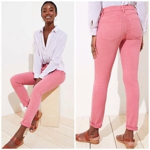 Loft Modern Kick Crop Hot Pink Jeans